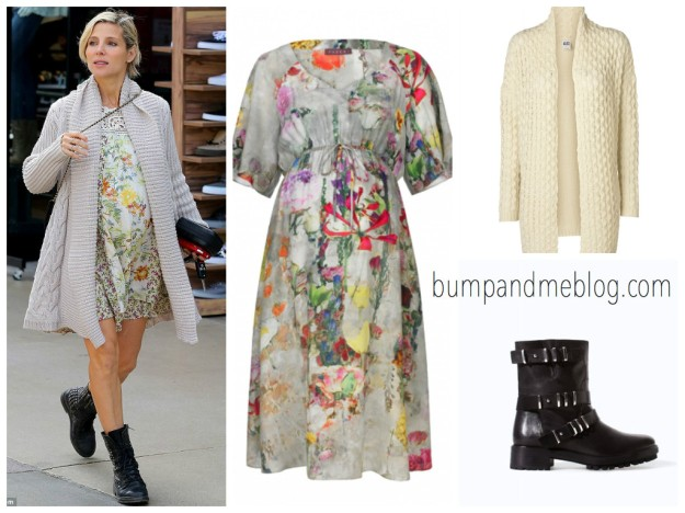 Elsa Pataky maternity floral dress