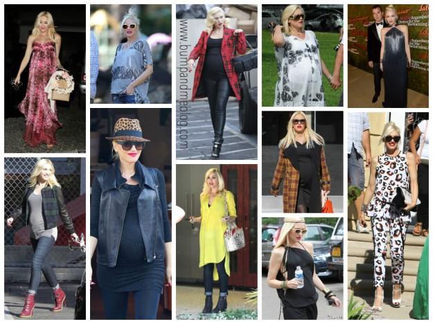 Gwen Stefani maternity style 2014