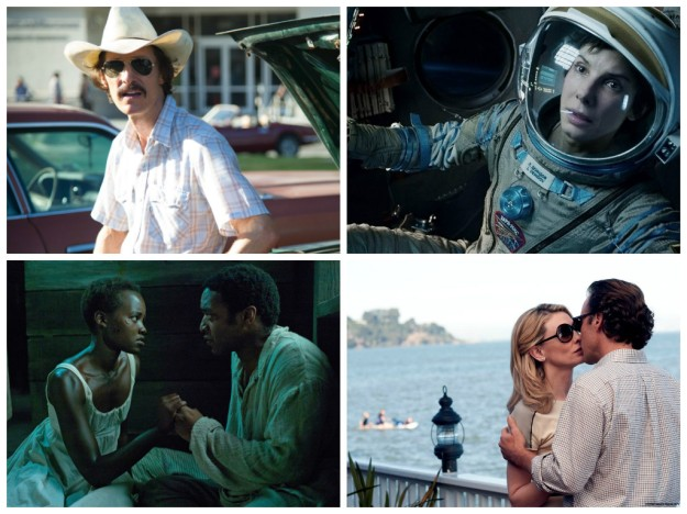 Dallas Buyers Club, Gravity, 12 years A Slave and Blue Jasmine
